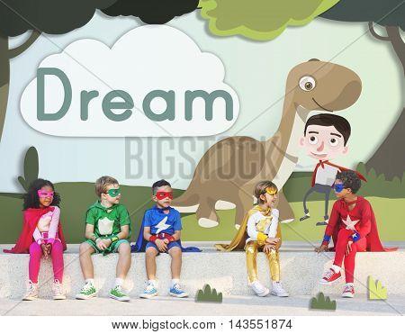 Kids Children Childhood Imagination Happy Concept