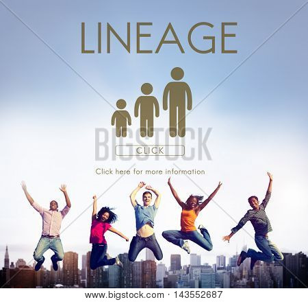 Lineage Family Generations Relationship Concept