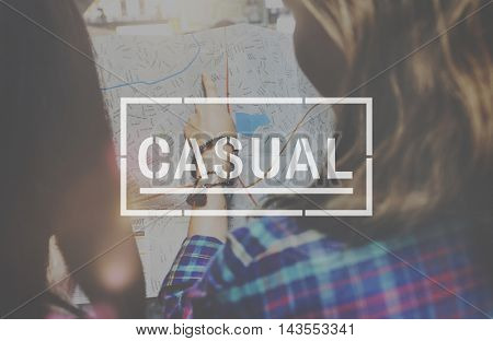 Casual Style Fashion Trendy Concept