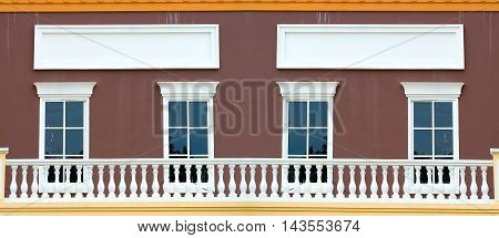 classic facade with balcony window background .