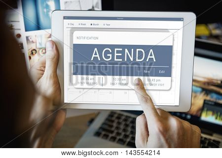 Agenda Appointment Plan Program Timetable Concept
