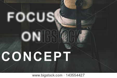 Focus On Aim Concentrate Target Determine Concept