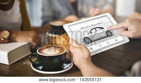 Car Rental Salesman Automobile Vehicles Concept