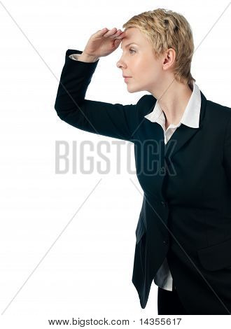 Business Woman Looking Forward