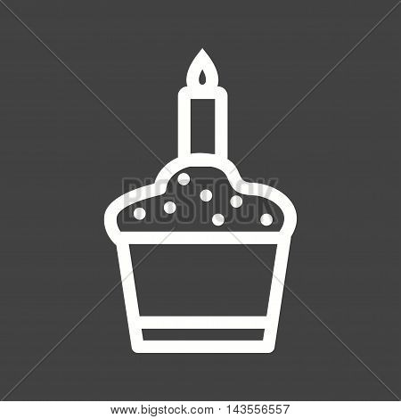 Birthday, muffin, cupcake icon vector image. Can also be used for birthday. Suitable for mobile apps, web apps and print media.