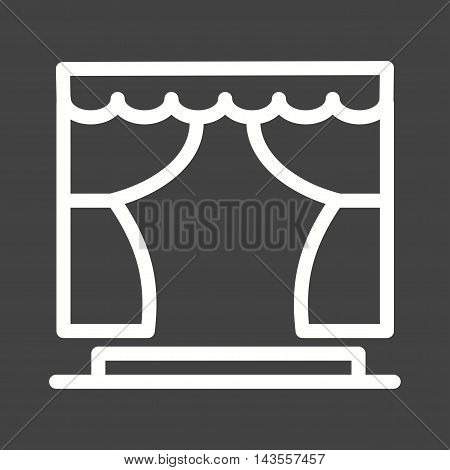 Theatre, acting, cinema icon vector image. Can also be used for circus. Suitable for use on web apps, mobile apps and print media.
