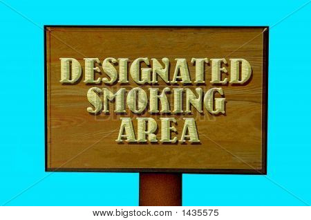 Designated Smoking Sign