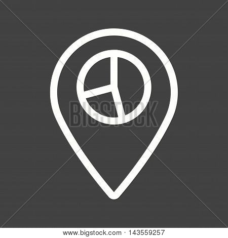 Location, stats, global icon vector image. Can also be used for web. Suitable for mobile apps, web apps and print media.