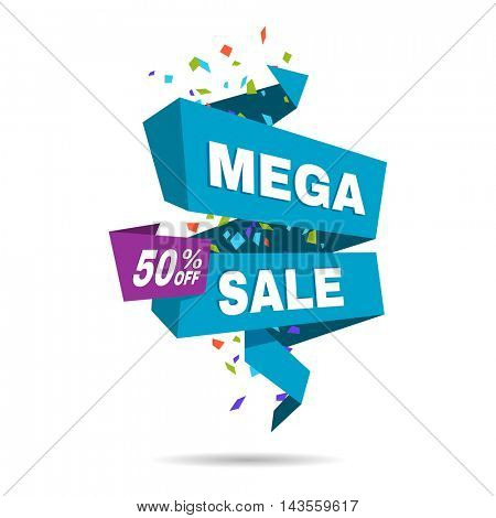 Special offer sale banner. Discount price label. Symbol of promotion and advertising. Elements for business. Flat design. Vector illustration isolated on white background.