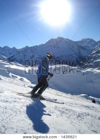 Skiing In The Sun
