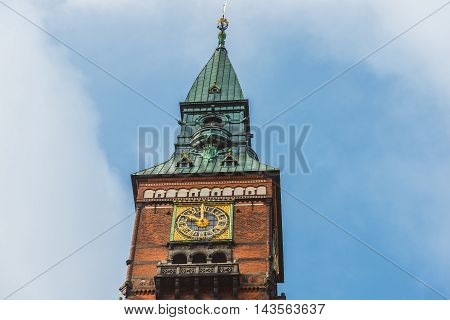 City Hall Tower In Copenhagen