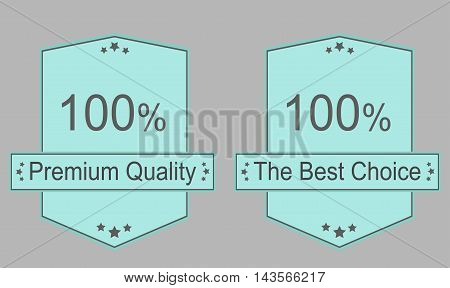 Best choice premium quality label set - Vector illustration