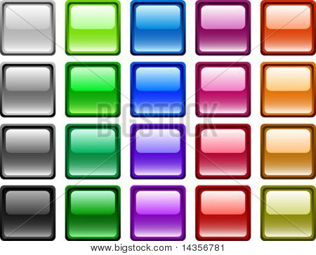 A lot of buttons. Vector illustration.