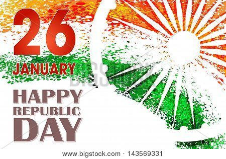unusual background design for Indian republic day Bharat day and independence day. vector illustration