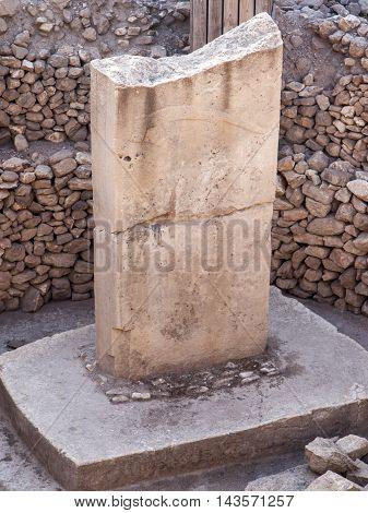 Göbekli tepe ruins near the city of Sanliurfa in the southeast region of Anatolia, Turkey.