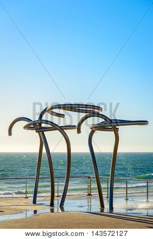 Public showers at Henley Beach South Australia