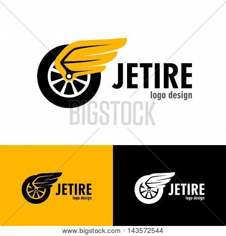 Logo design Jet tire, vector art for web and print