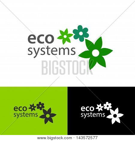 Logo design Eco Systems, vector art for web and print