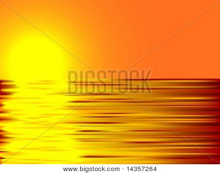 Beautiful summer background. Vector illustration.