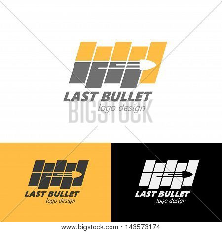 Logo design Last bullet, vector art for web and print
