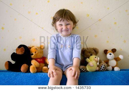 Small Girl With Funny Smile