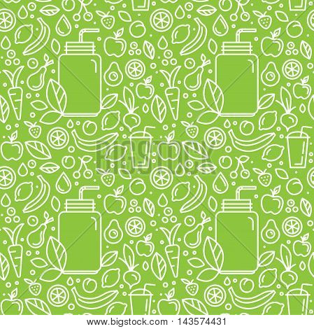 Vector Seamless Pattern And Background For Food Packaging