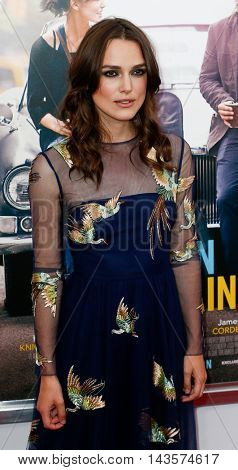 NEW YORK-JUNE 25: Keira Knightly attends the New York premiere of the Weinstein company's