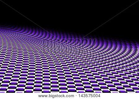 purple curve carbon fiber on the black shadow. background and texture. 3d illustration.