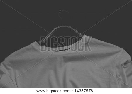Men's t-shirt in white on a black background
