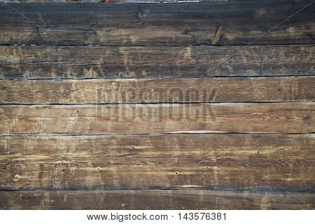 Background - A Wall Of Old Wooden House.