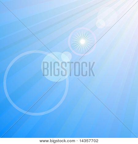 Bengalas en el cielo azul. Ilustración del vector.