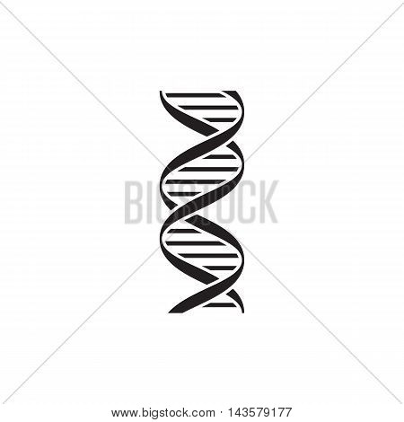 DNA icon isolated on a white background. Vector illustration