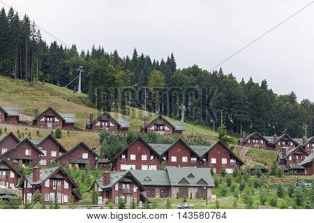 Ski resort in the Ukrainian Carpathians. Bukovel in the summer.