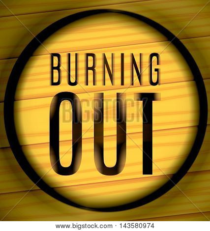 Burning Out On A Wood In The Ring
