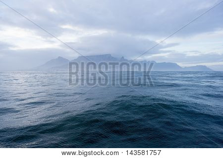 Table Mountain From The Ocean