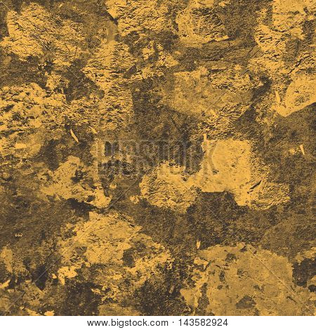 Abstract creative background from gold leaf with filtered color