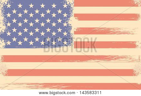 vector illustration in retro style for the feast days of Americas independence grunge effect