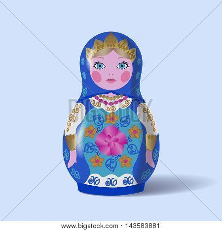 Russian doll, matryoshka. Realistic vector eps10 illustration.
