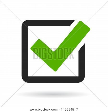 Checkbox icon vector illustration isolated on white background
