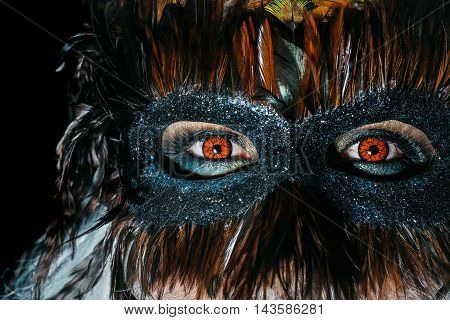 Male Face In Masquerade Mask