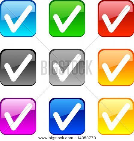 Echale un vistazo y botones brillantes. Ilustración del vector.