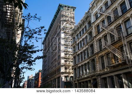 New York City building in Midtown USA