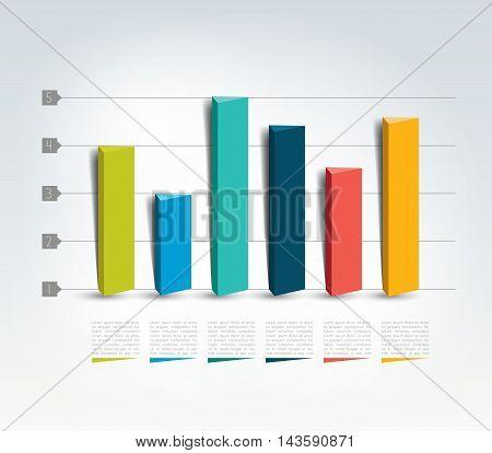 3 D design graph. Info graphics chart.