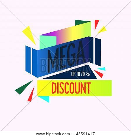 Super Sale, this weekend special offer banner, up to 70 off. Vector illustration.