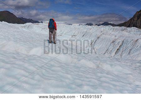 Hike in Wrangell-St. Elias National Park, Alaska.