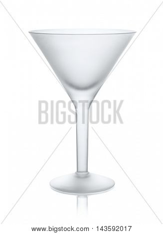 Empty matt martini glass isolated  white