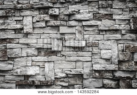 Modern Pattern Natural Stone Brick Decorative Wall Texture For Background.