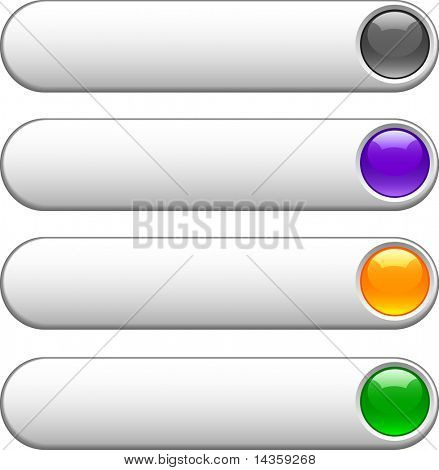 Internet shiny buttons. Vector illustration.