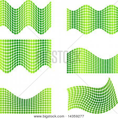 Six half-tone backgrounds. Vector illustration.