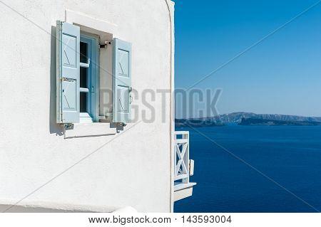 View on the caldera of Santorini island - Greece